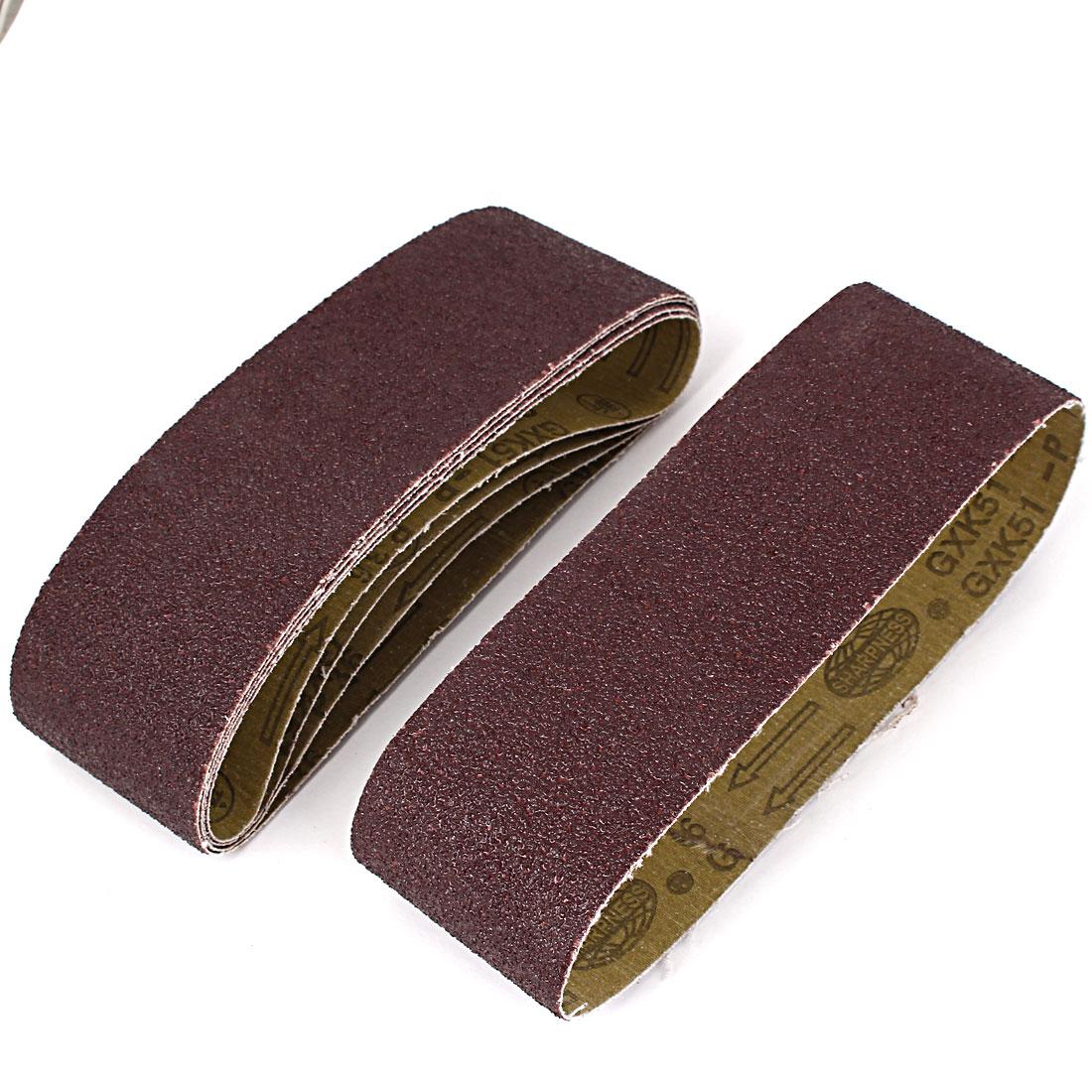 Sander Polishing Machine 533x75mm 36 Grit Abrasive Sanding Belt Sandpaper 5pcs