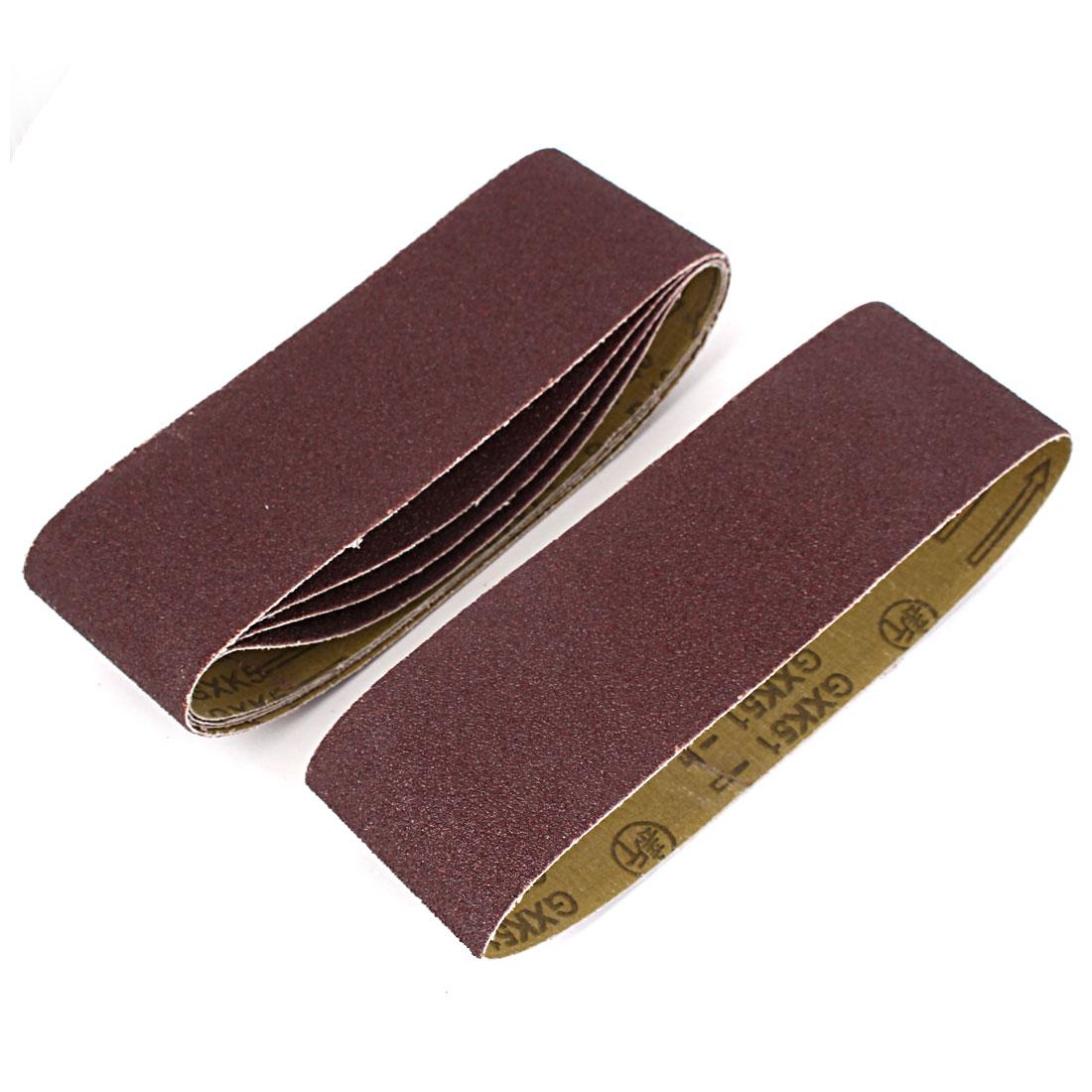 533mmx75mm 40 Grit Abrasive Sanding Belt Sandpaper 5pcs