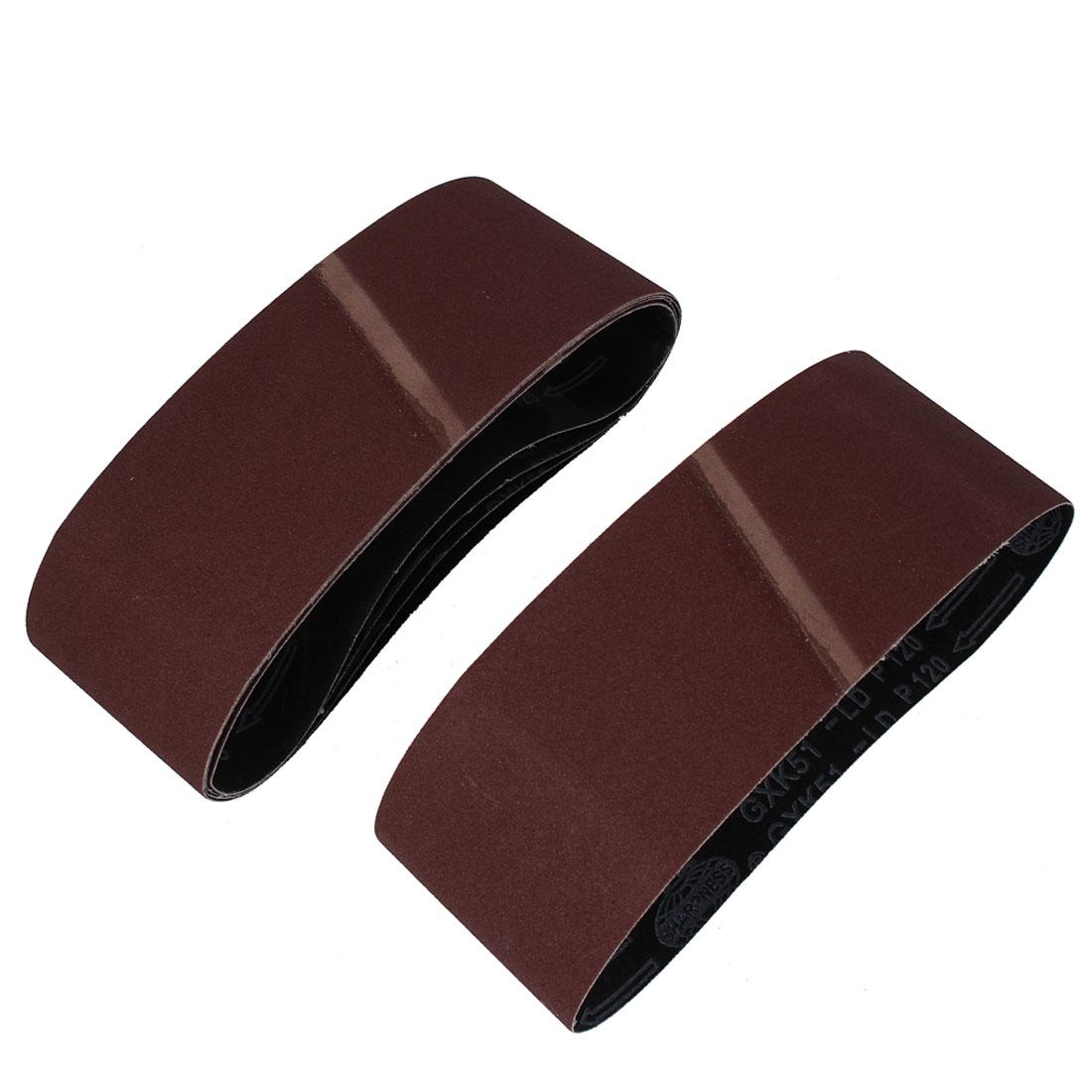 Sander Polishing Machine 610x93mm 120 Grit Abrasive Sanding Belt Sandpaper 5pcs