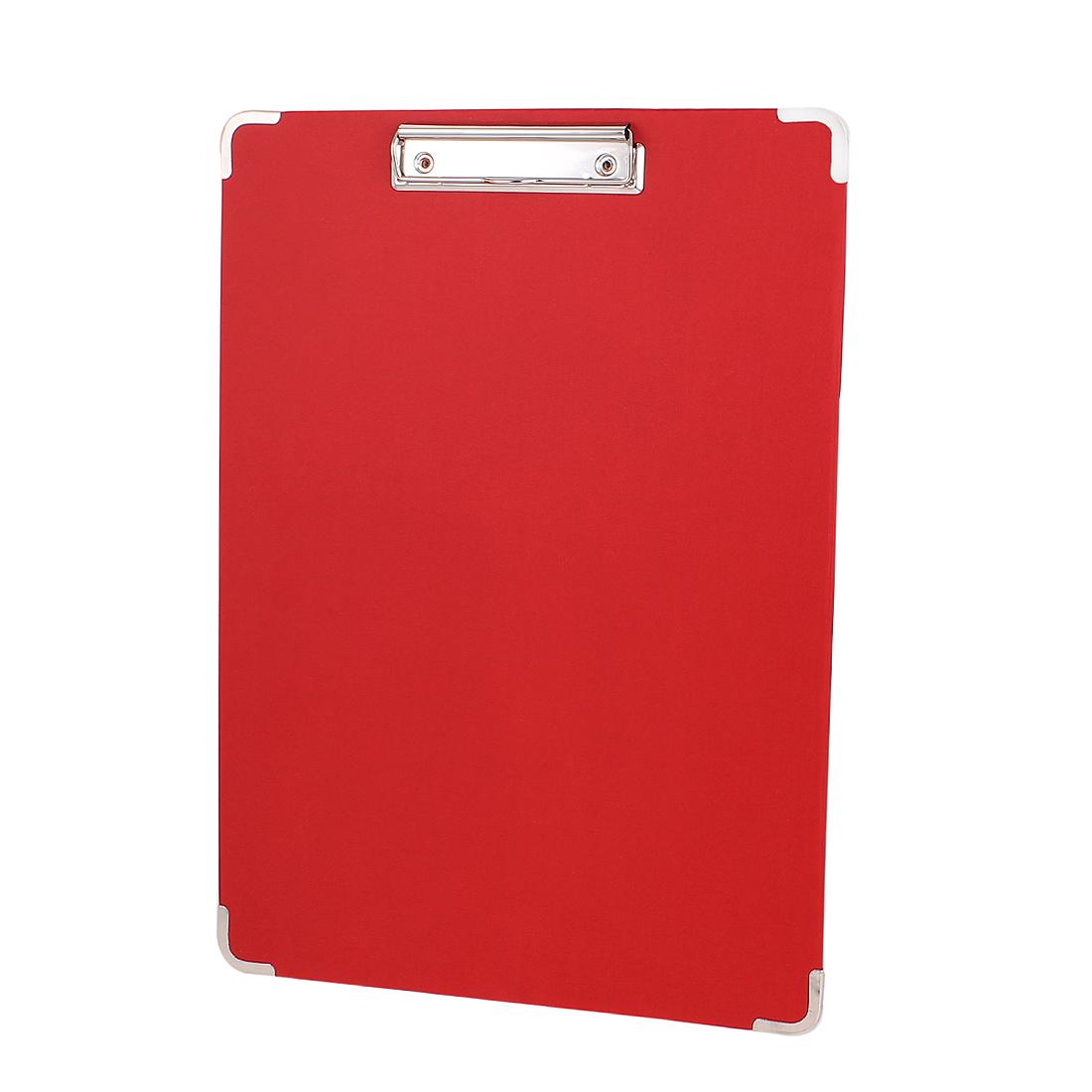 40cmx28cm Painting Art Sketch Board Holder Hardboard Clipboard Red w Low Clip