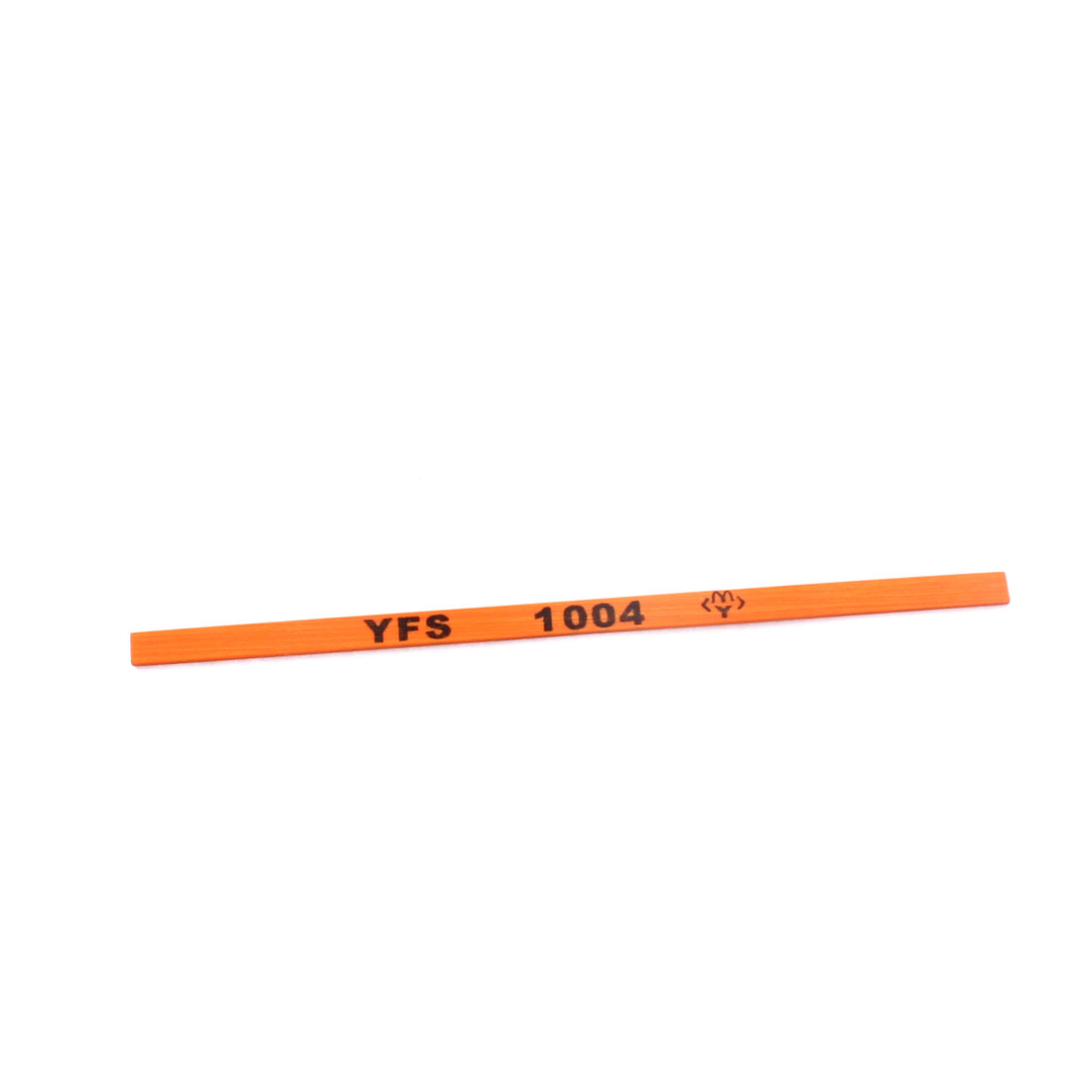 105mm x 4.5mm x 1mm 220# Boride Abrasives Grinding Oil Oily Stone Dark Orange