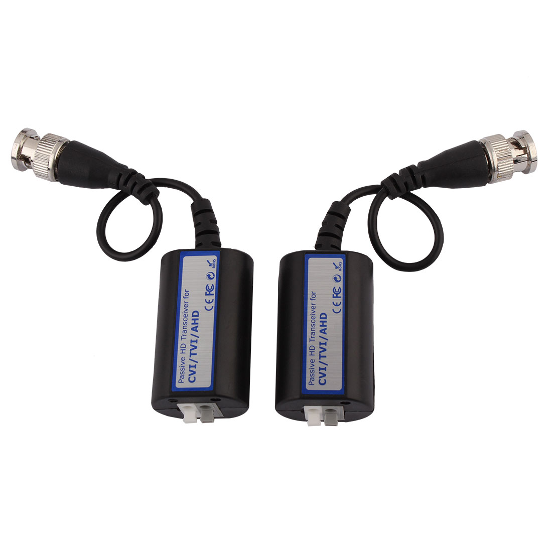Video Passive Balun BNC Transmitter Transceiver Cable Pair for HDCVI HDTVI AHD