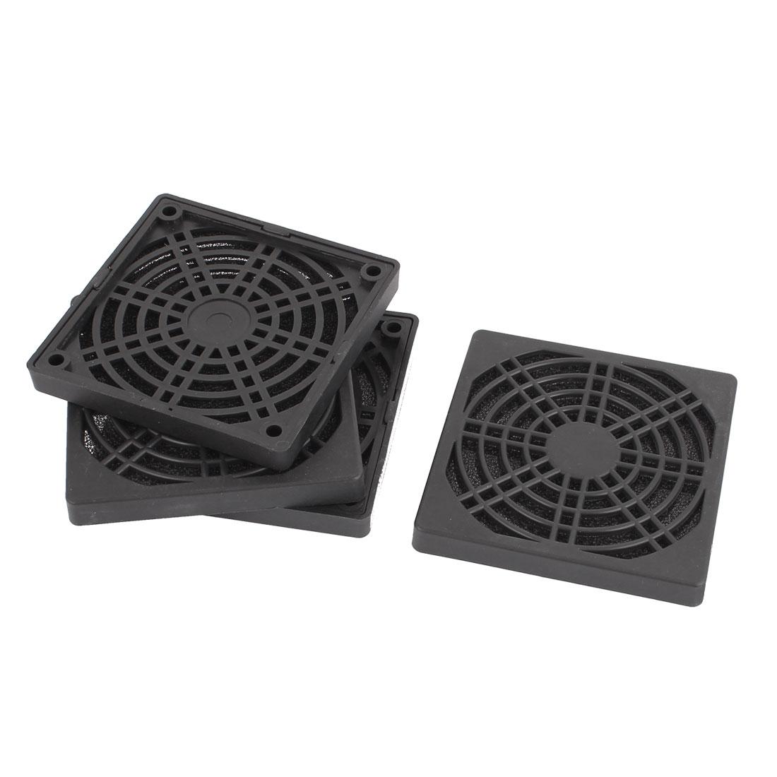 4 Pcs Computer Case Fan Dustproof Mesh Dust Filter Cover Guard 86x86x10mm
