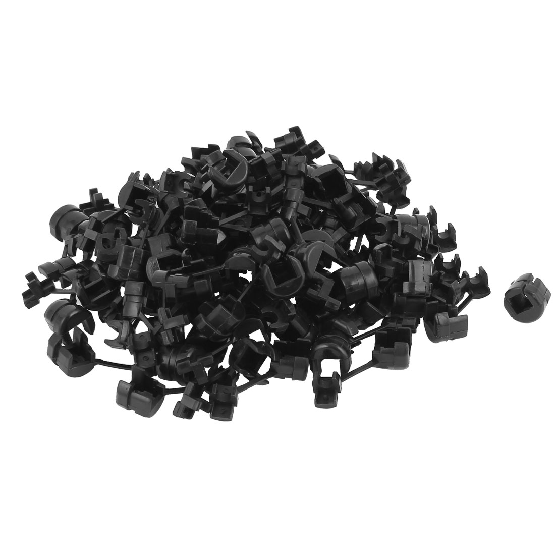 83 Pcs HDB-A7 Round Cable Wire Strain Relief Bush Grommet 11mm Length