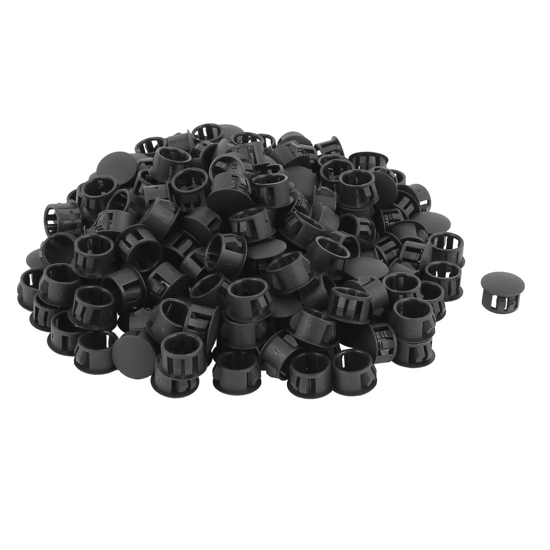 SKT-14 Plastic 14mm Dia Snap in Type Locking Hole Connectors Button Cover 200pcs