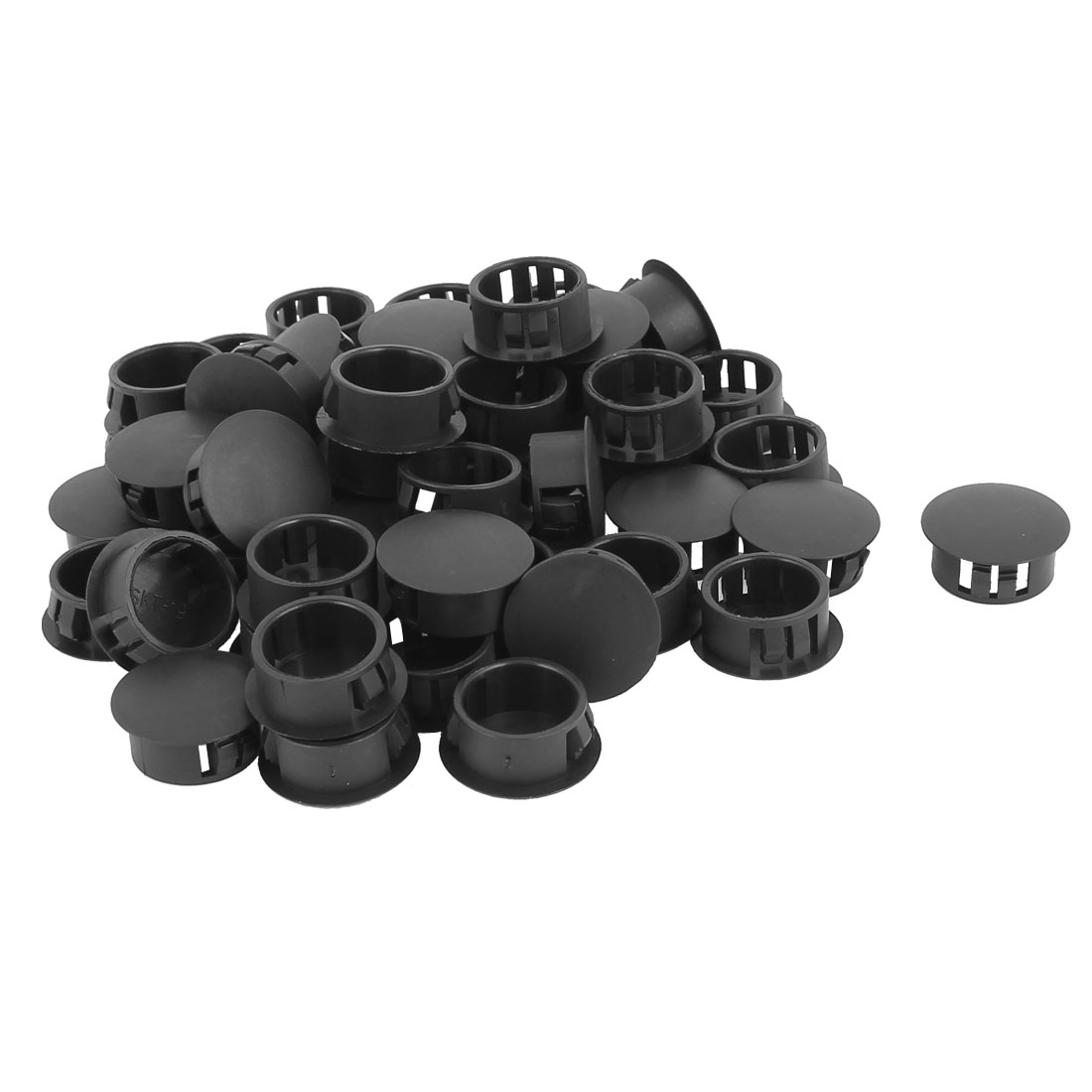 SKT-19 Plastic 19mm Dia Snap in Type Locking Hole Connectors Button Cover 50pcs