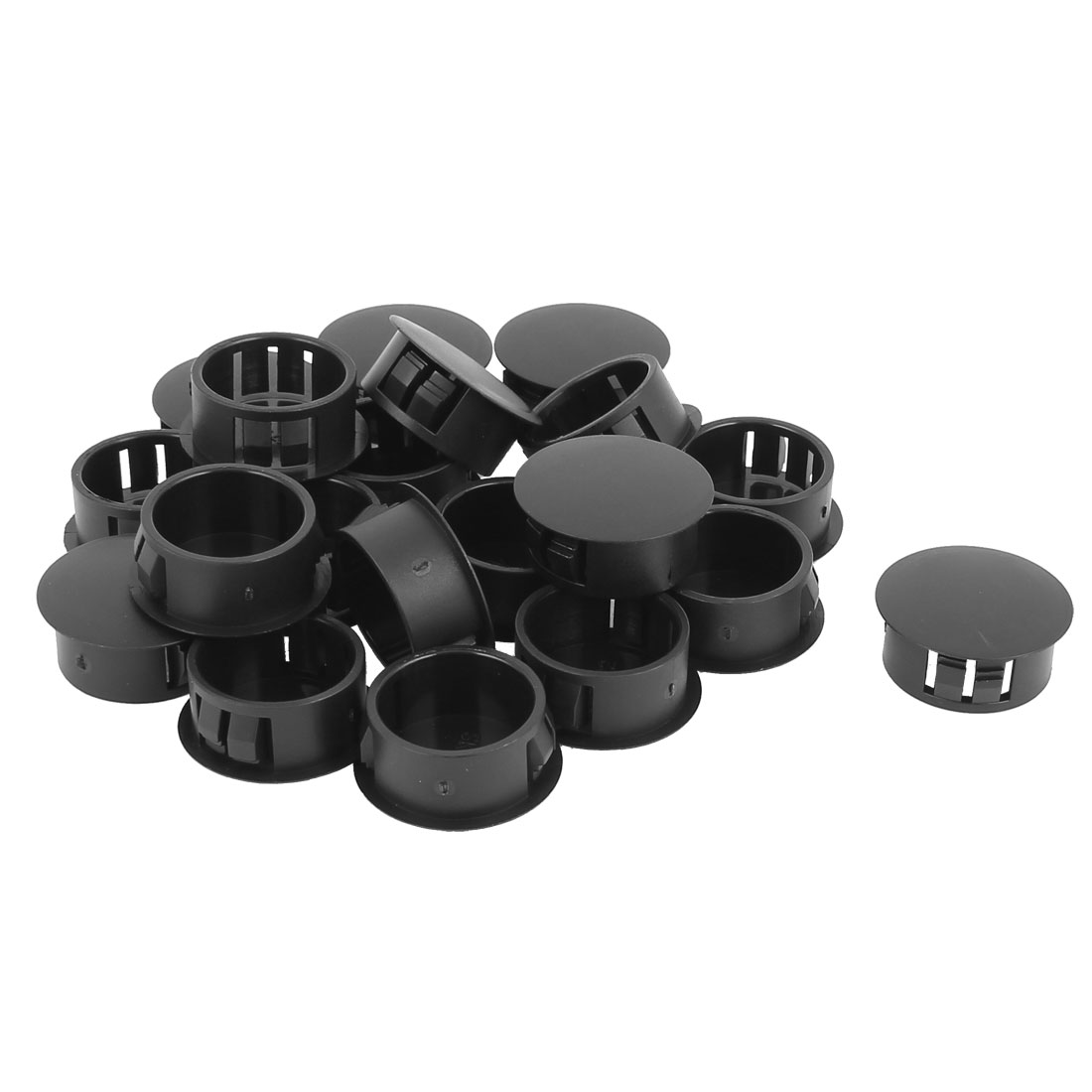 SKT-22 Plastic 22mm Dia Snap in Type Locking Hole Connectors Button Cover 20pcs