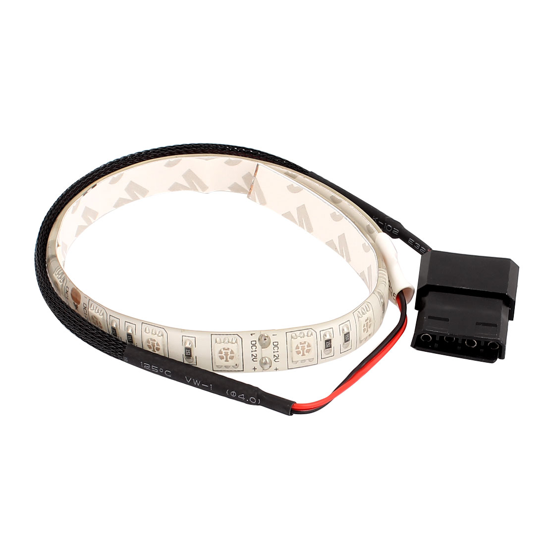 DC 12V 4Pin 17 LED SMD Flexible Green Light Strip for PC Computer Case