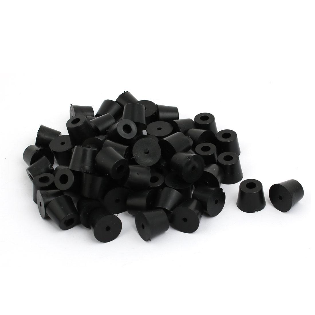 17mmx13mmx14mm Rubber Cone Shaped Furniture Foot Pad Bumper Black 80pcs