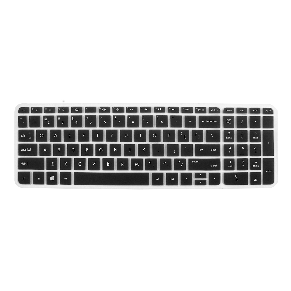 Anti-Dust Keyboard Protector Skin Film Cover Black for HP Pavilion 15 Laptop