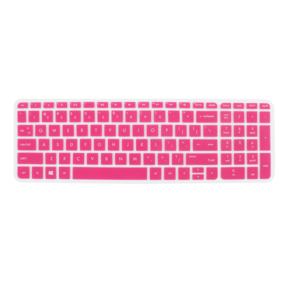 Anti-Dust Keyboard Protector Skin Film Cover Fuchsia for HP Pavilion 15 Laptop