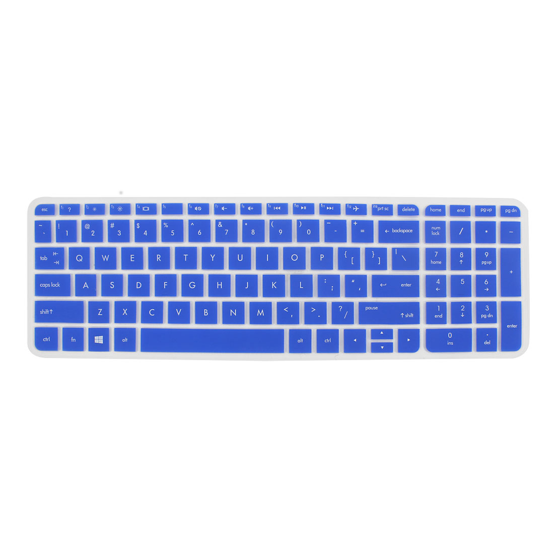 Anti-Dust Keyboard Protector Skin Film Cover Blue for HP Pavilion 15 Laptop