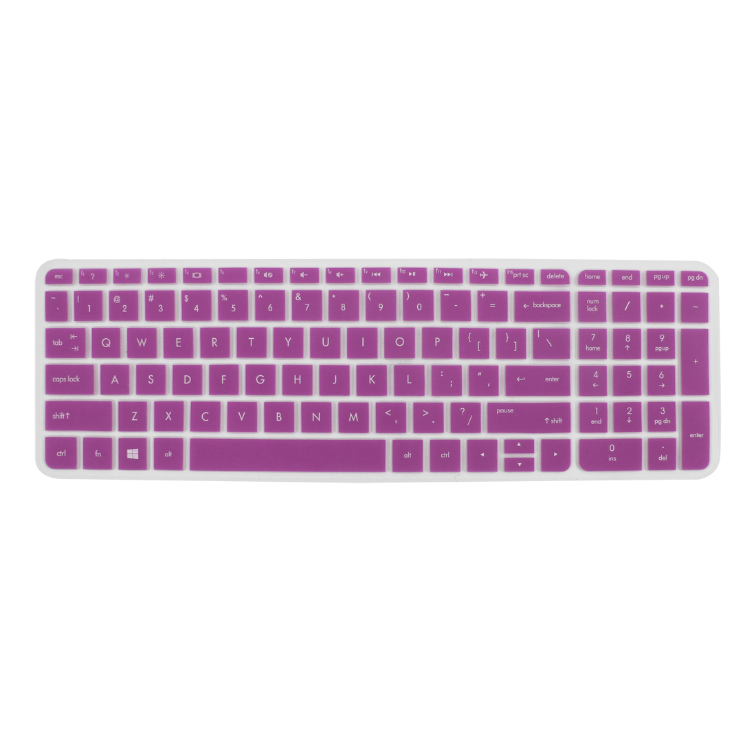 Anti-Dust Keyboard Protector Skin Film Cover Purple for HP Pavilion 15 Laptop