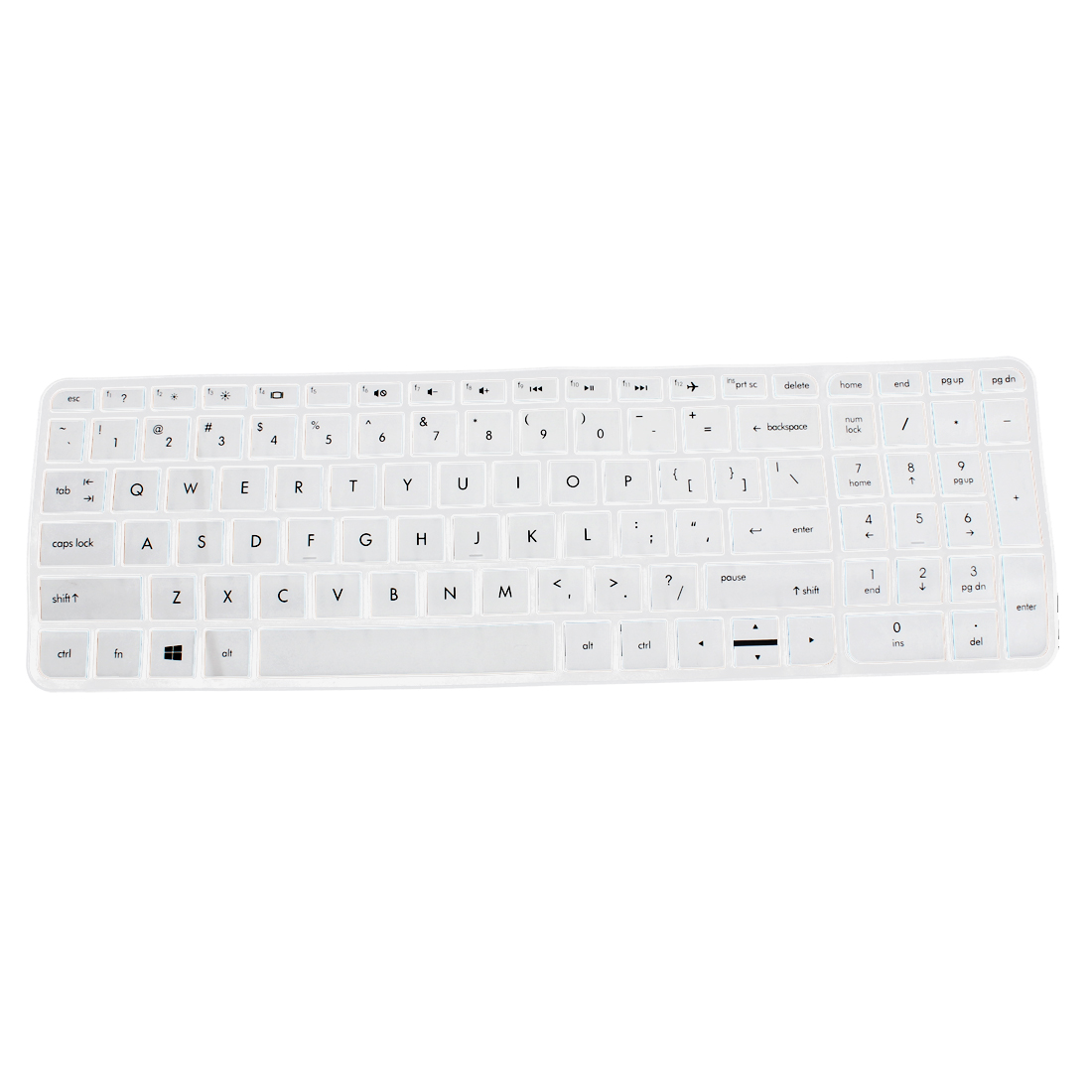 Anti-Dust Keyboard Protector Skin Film Cover White for HP Pavilion 15 Laptop