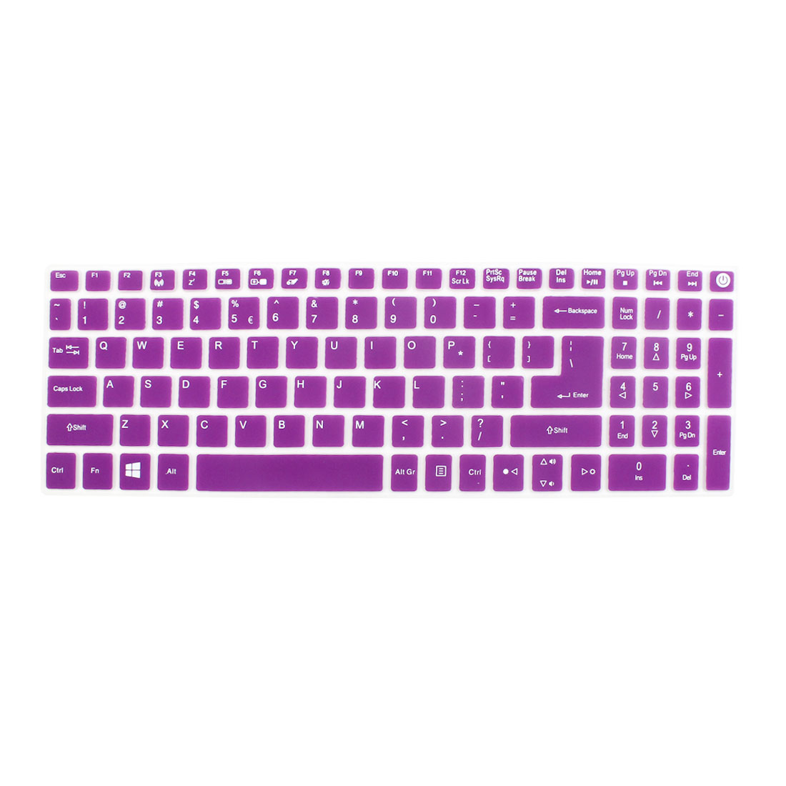 Notebook Laptop Keyboard Protector Skin Film Cover Purple for Acer E5-573
