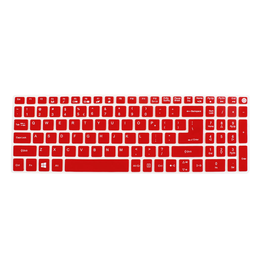 Notebook Laptop Keyboard Protector Skin Film Cover Red for Acer E5-573