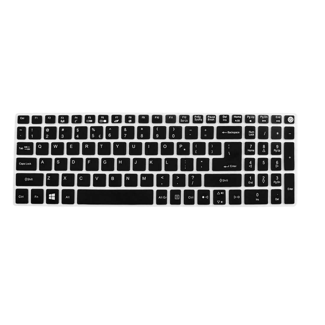 Notebook Laptop Keyboard Protector Skin Film Cover Black for Acer E5-573