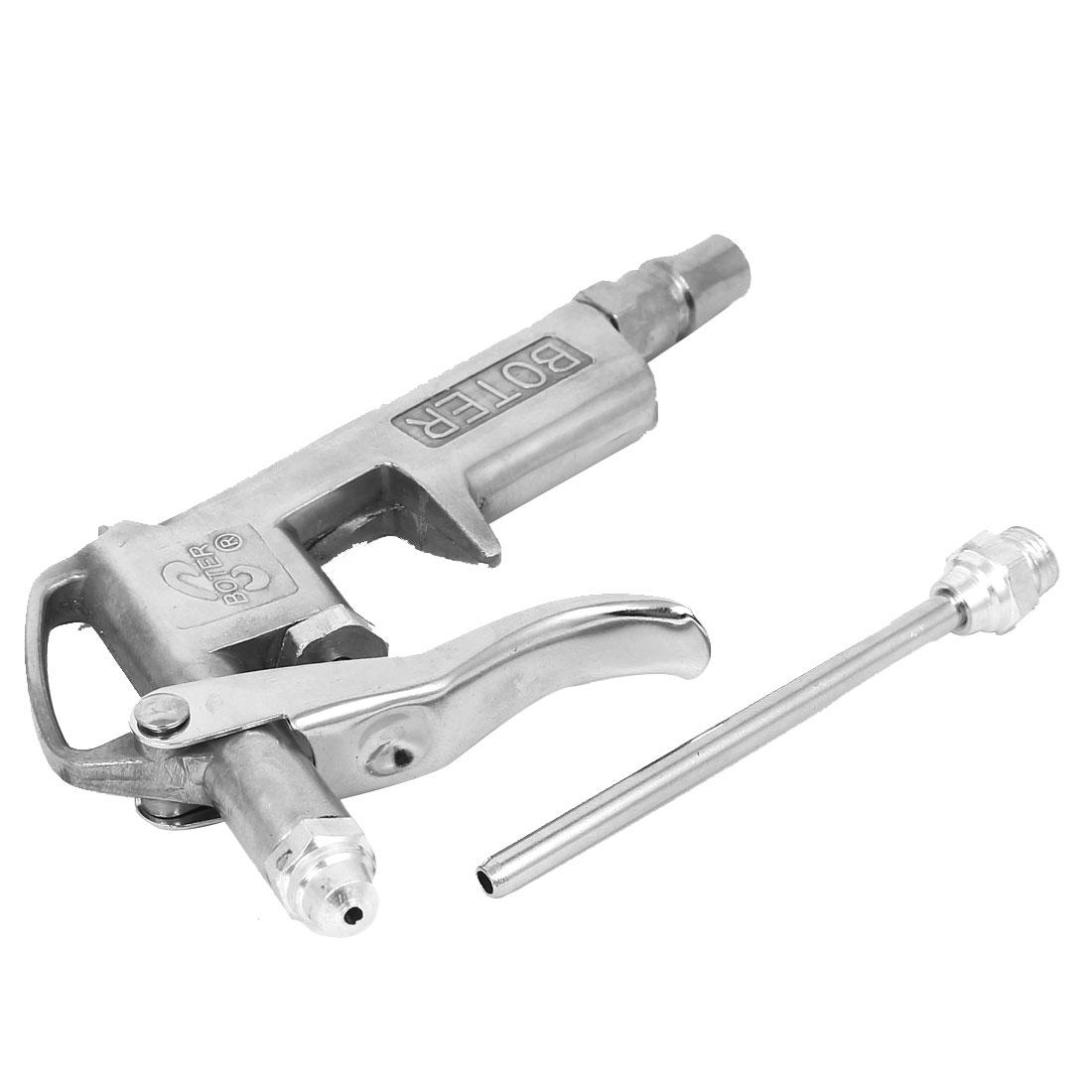 Metal Air Compressor Duster Blower Blow Gun Cleaner Tool Silver Tone