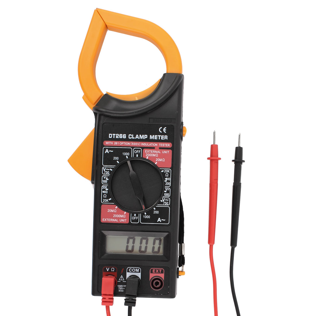 AC DC Voltage Resistance Measurement Tester Digital Clamp Meter Multimeter