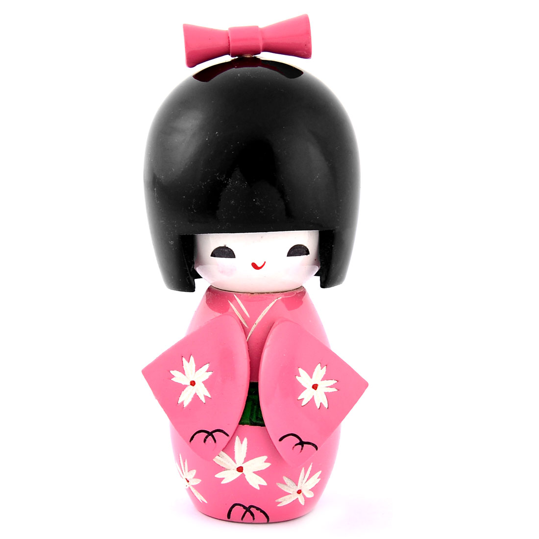 Home Wooden Decorative Japanese Kimono Kokeshi Doll Craft Pink