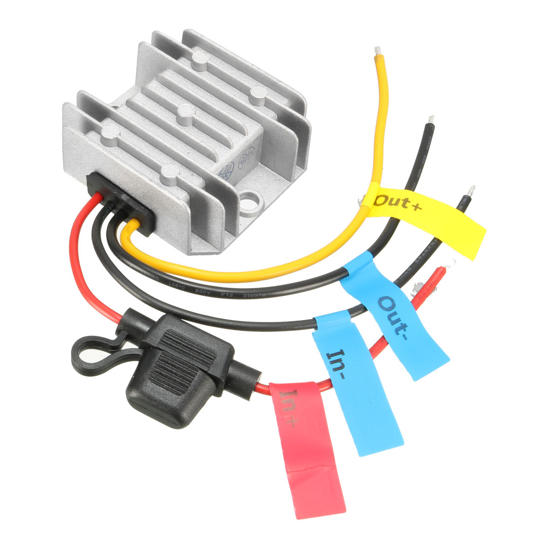 uxcell Power Converter Regulator DC 12V/24V(9V~35V) Step-Down to DC 6V 10A 60W Waterproof Voltage Convert Transformer