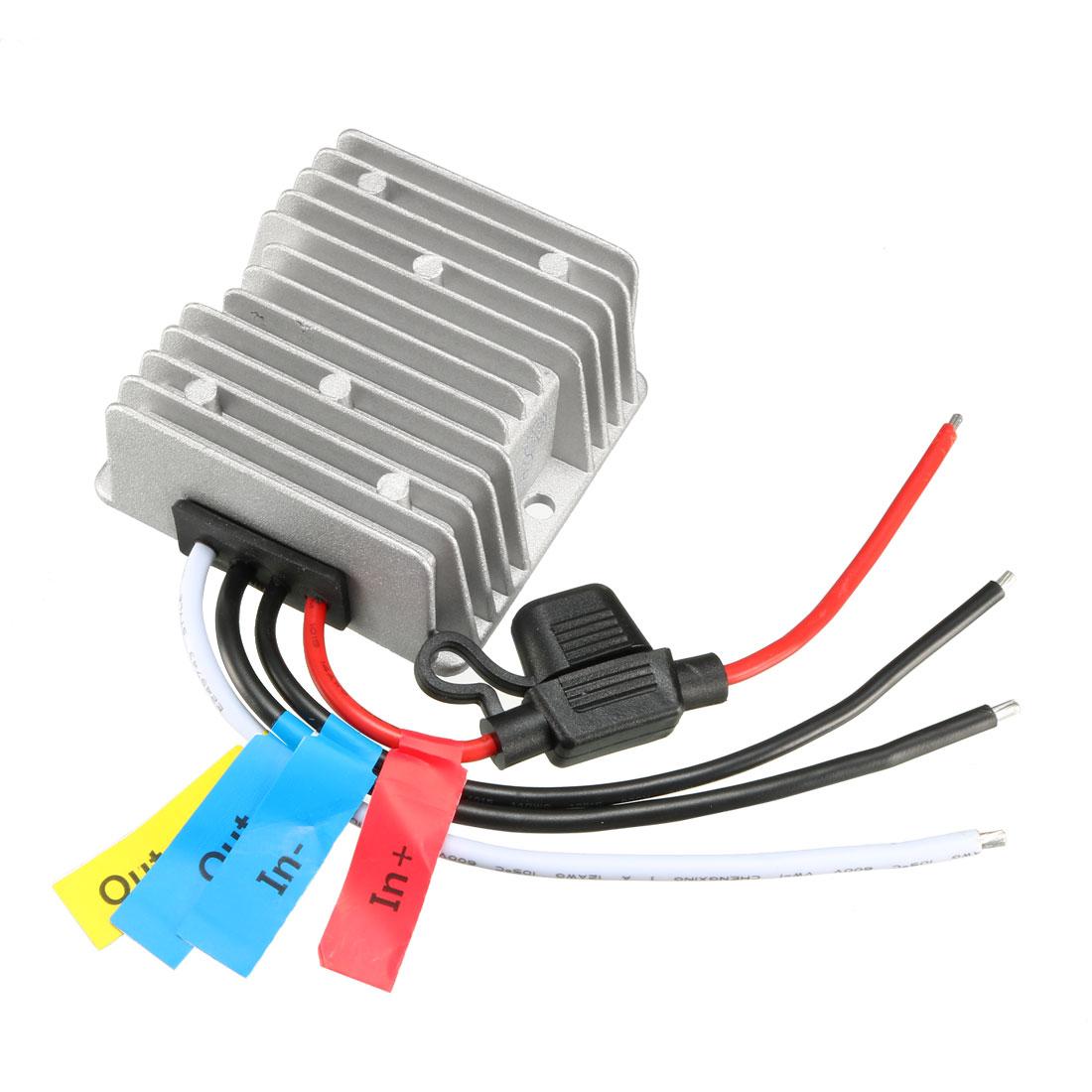 uxcell Power Converter Regulator DC12V/24V Step-Down to DC6V 25A 150W Waterproof Voltage Convert Transformer