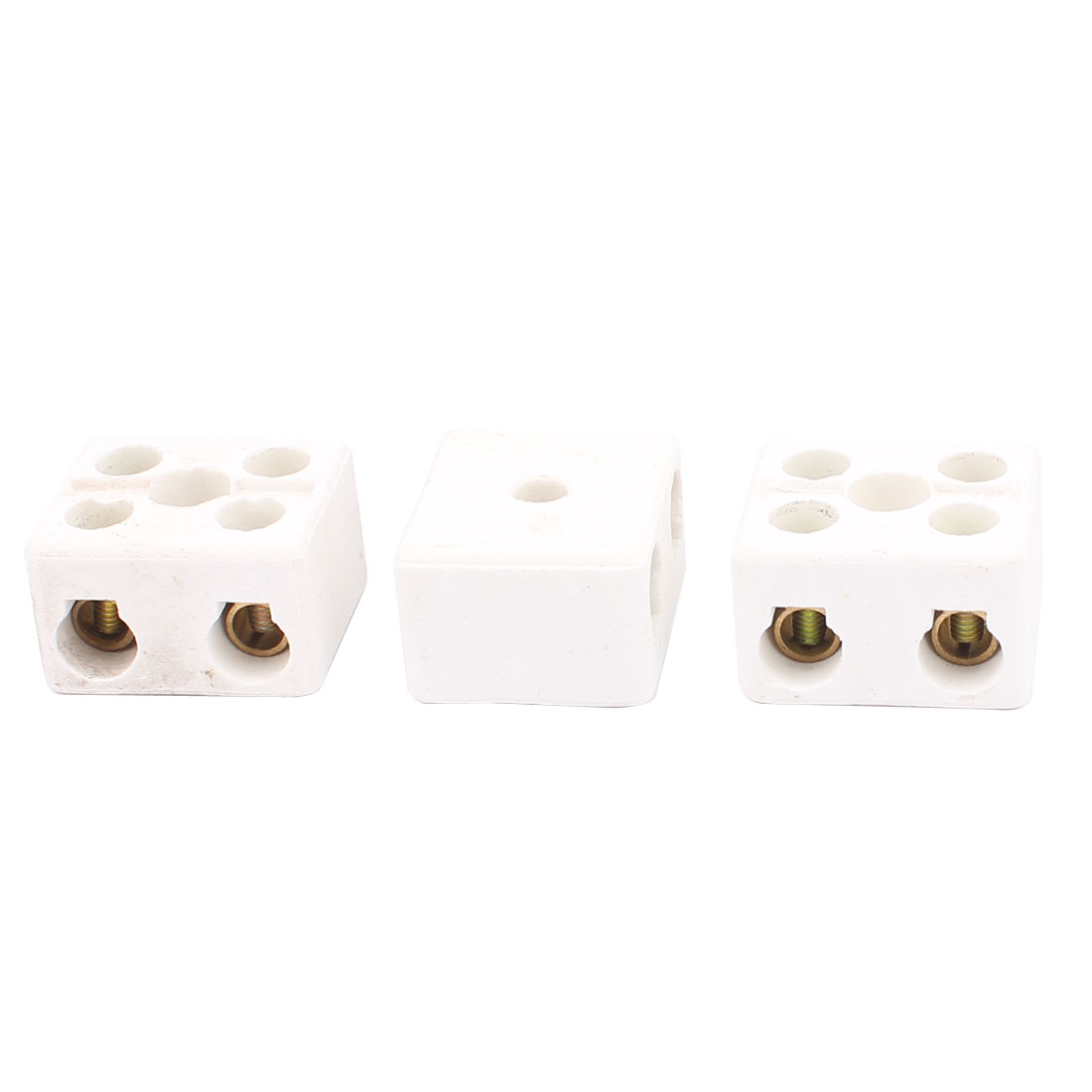 3PCS Cable Connector 2 Position 2 Row Ceramic Terminal Block 220V 30A