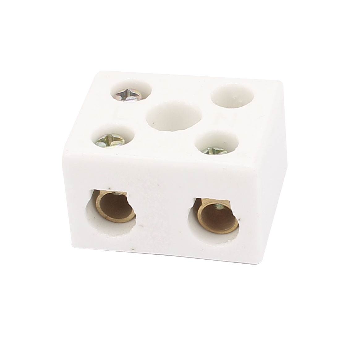 AC 380 25A 2 Way 5 Hole 2W5H Porcelain Ceramic Terminal Block Wire Connector