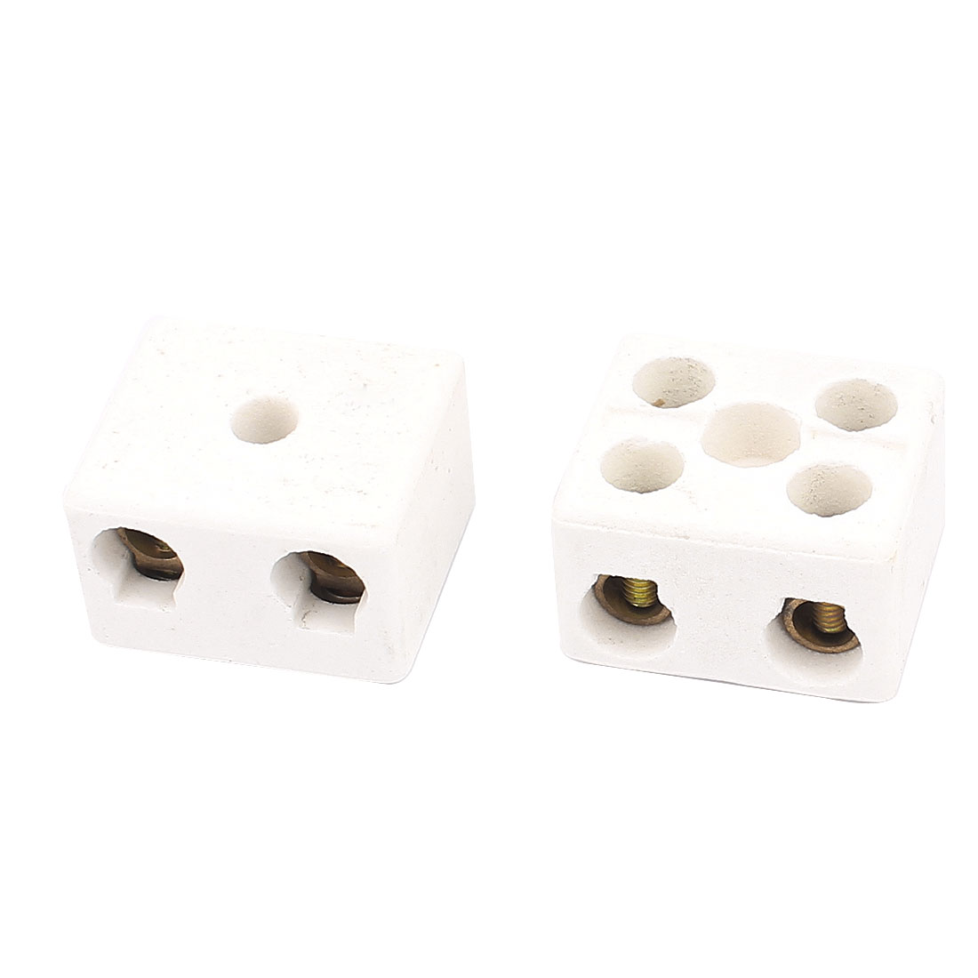 2PCS Cable Connector 2 Position 2 Row Ceramic Terminal Block 220V 30A