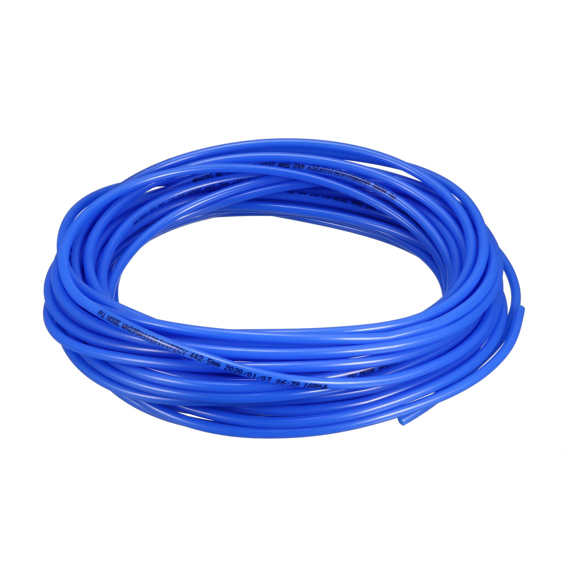 13.5 Meter Long 4mm x 2.5mm Blue Polyurethane Flexible Air Tube PU Tubing Pneumatic Pipe Hose