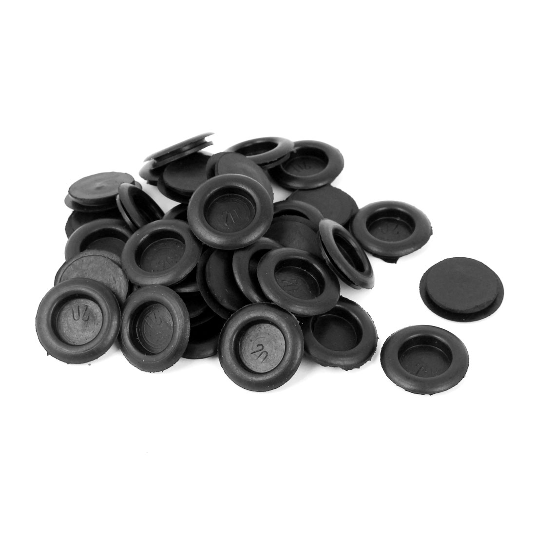 36 Pcs Running Wire Cable Protector Armature Rubber Needle Bar Grommets Black 20mm