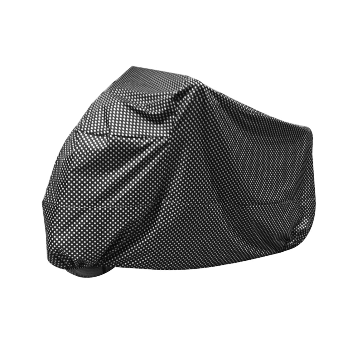 XL Black White Dots Motorcycle Waterproof Rain Dust Resistant Protective Cover