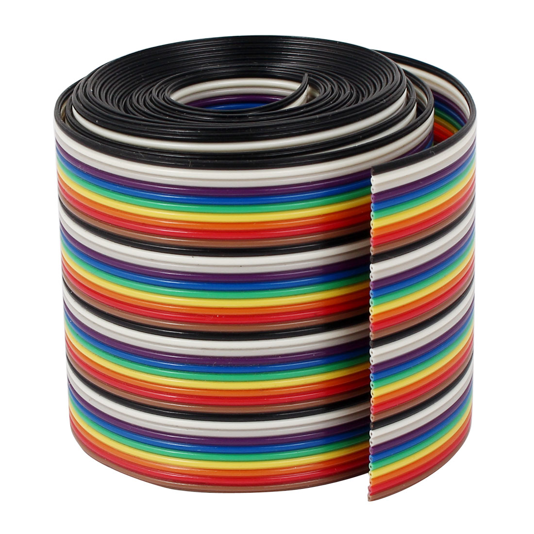 2 Meter 6.6ft 40 Way 40 pin Flat Color Rainbow Ribbon IDC Cable Wire Rainbow Cable