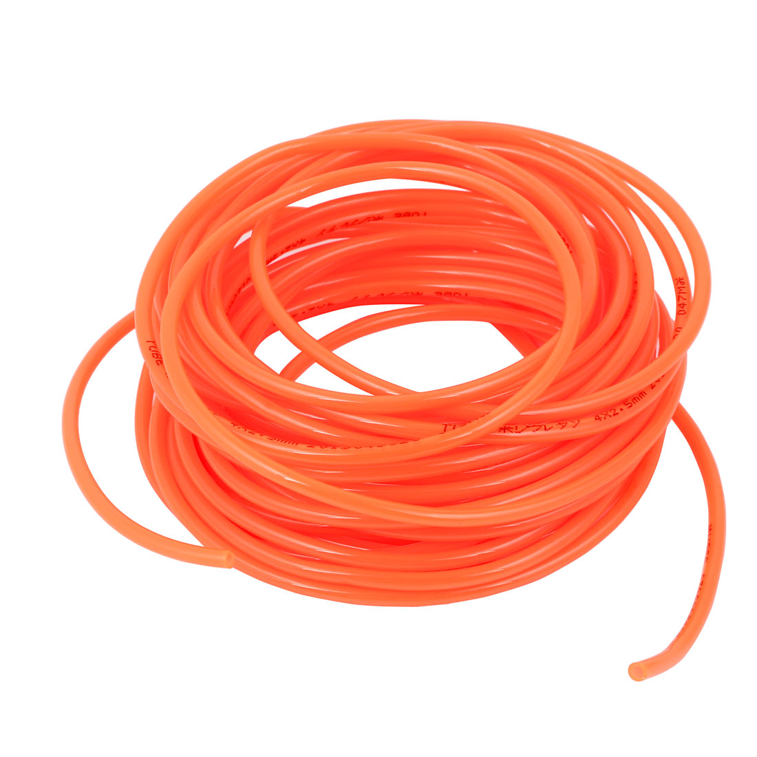 10 Meter Long 4mm x 2.5mm Orange Polyurethane Flexible Air Tube PU Tubing Pneumatic Pipe Hose