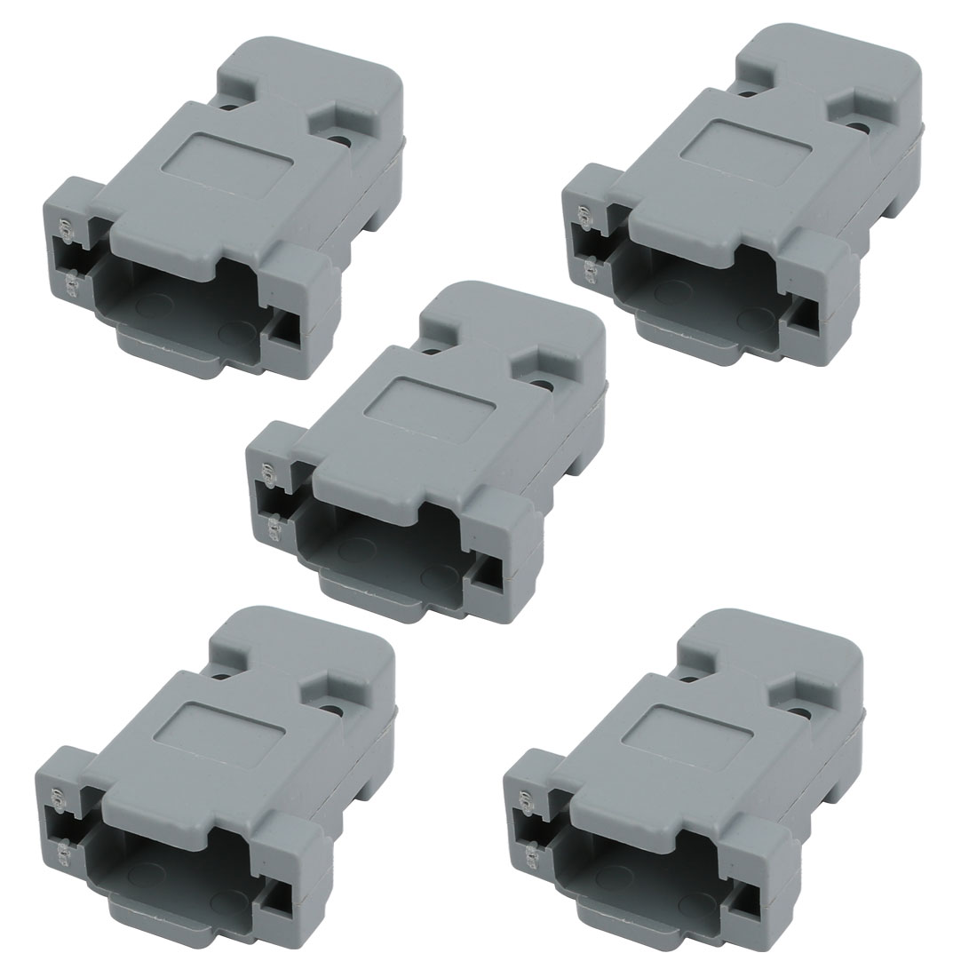 5 Pcs Serial Port D-Sub DB9 Connector Kit Protection Hoods Shell w Screws