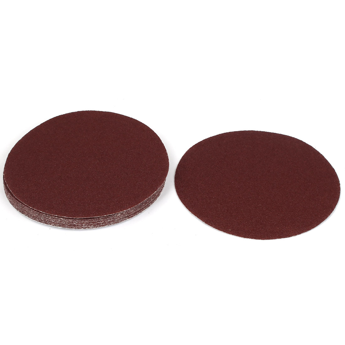 "6"" Dia Polishing Round Abrasive Sanding Sandpaper Sheet Disc 60 Grit 10 Pcs"