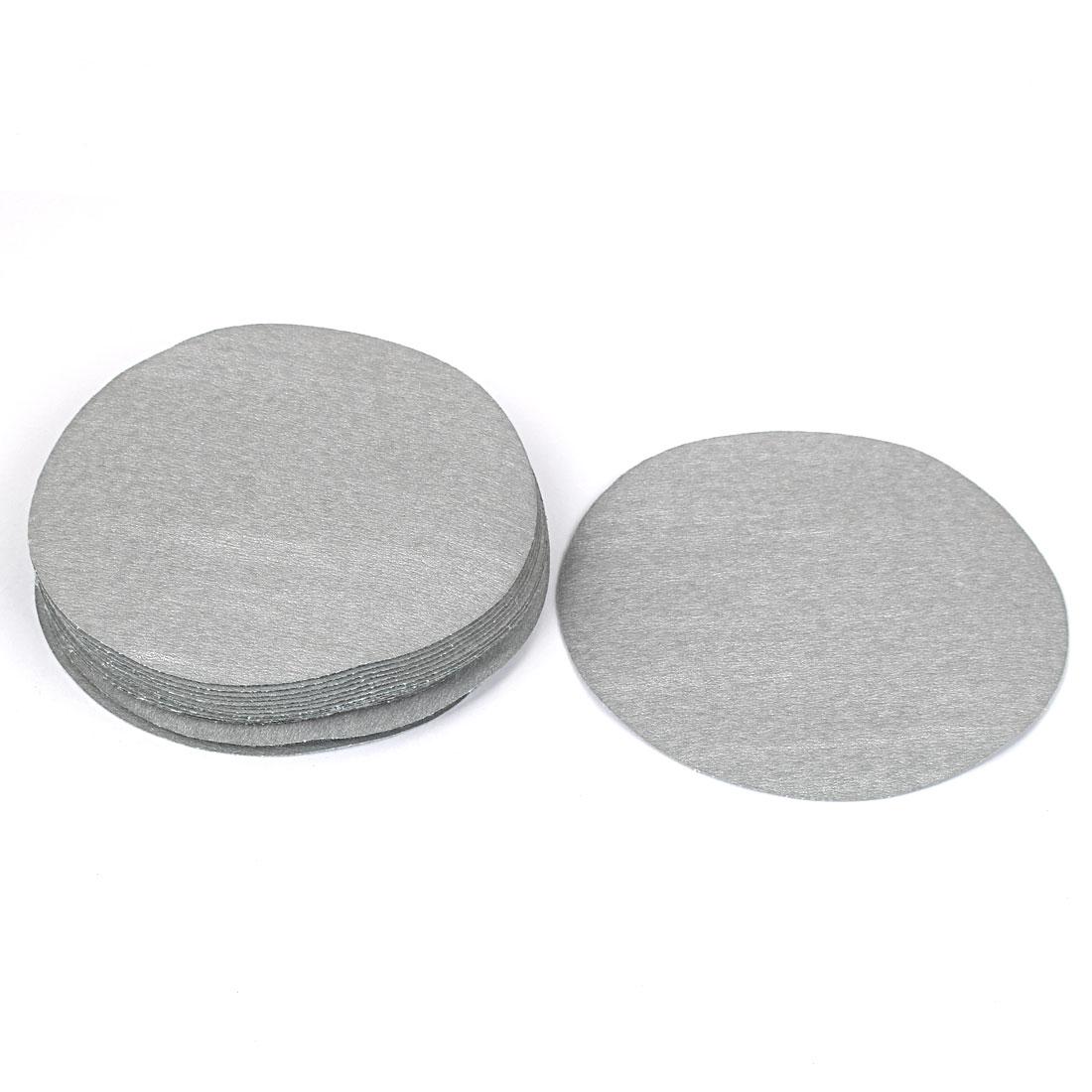 "5"" Dia Polishing Round Sanding Flocking Sandpaper Disc 800 Grit 20 Pcs"
