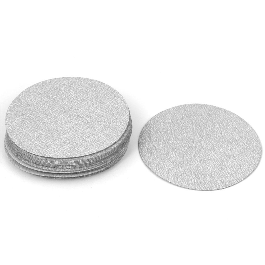 "4"" Dia Polishing Round Sanding Flocking Sandpaper Disc 320 Grit 20 Pcs"