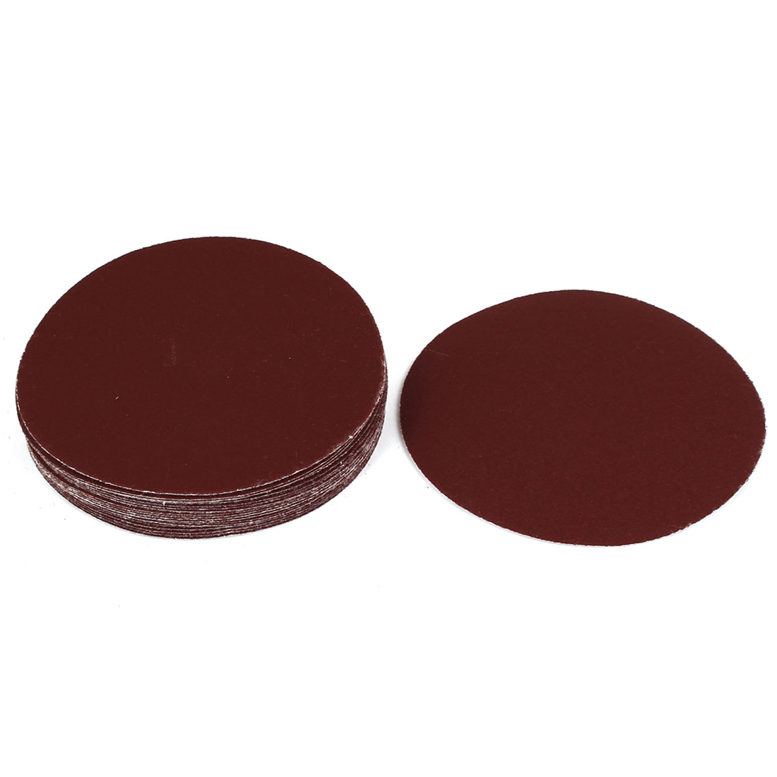 "5"" Dia Polishing Round Abrasive Sanding Sandpaper Sheet Disc 180 Grit 20 Pcs"
