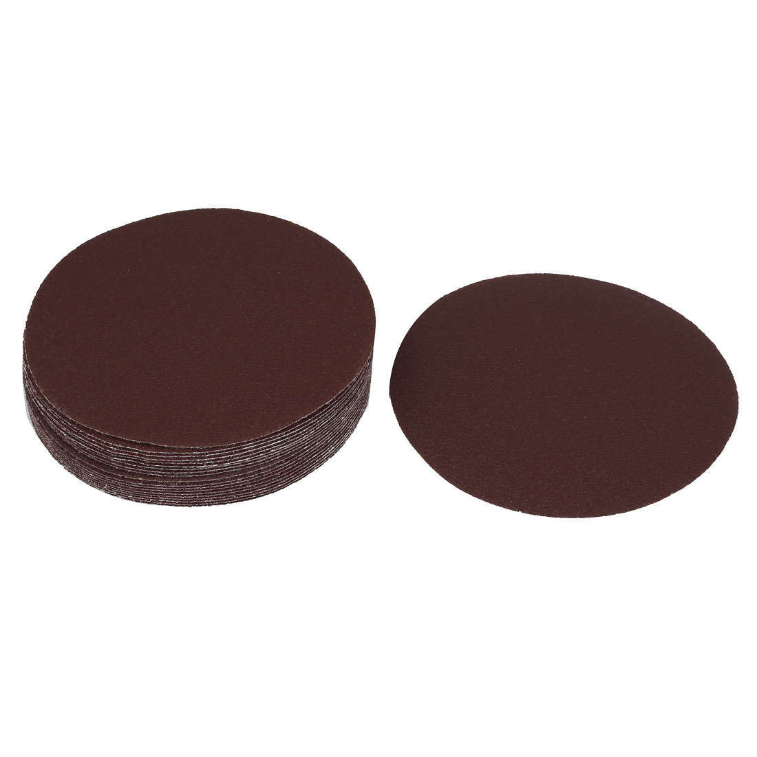 "5"" Dia Polishing Round Abrasive Sanding Sandpaper Sheet Disc 100 Grit 20 Pcs"
