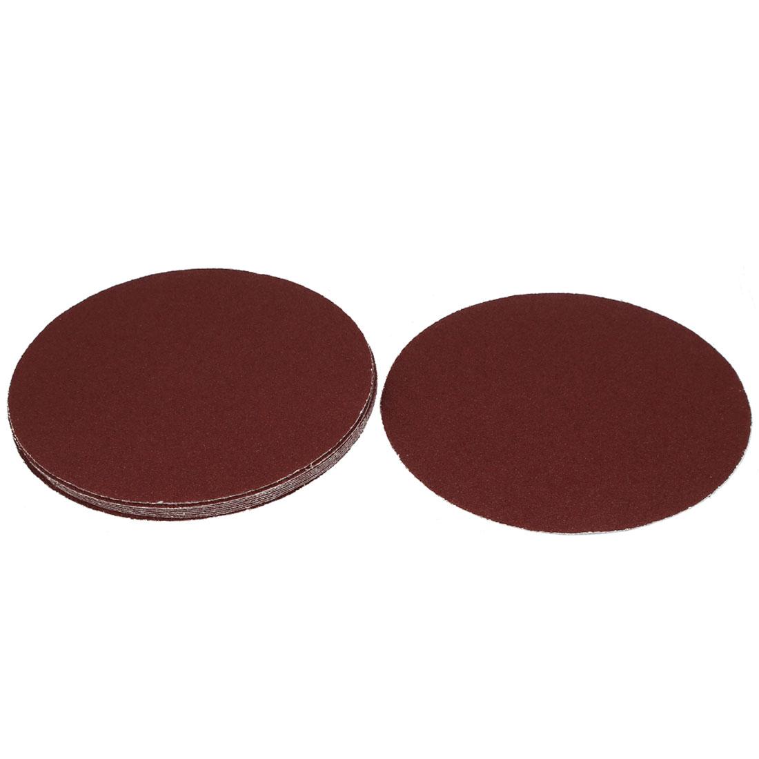 "8"" Dia Polishing Round Abrasive Sanding Sandpaper Sheet Disc 40 Grit 10 Pcs"