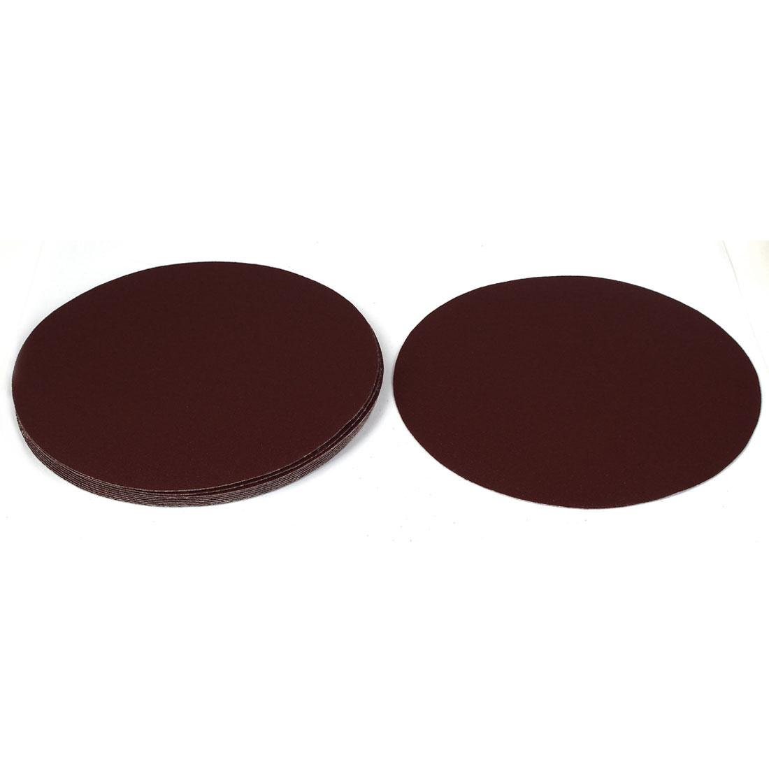"8"" Dia Polishing Round Abrasive Sanding Sandpaper Sheet Disc 100 Grit 10 Pcs"