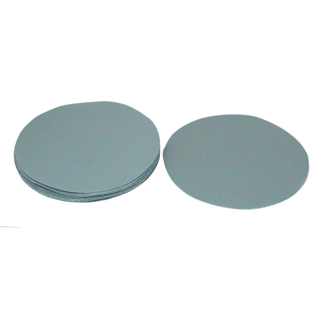 "7"" Dia Wet Dry Silicone Carbide 5000 Grit Polishing Sand Paper 10pcs"