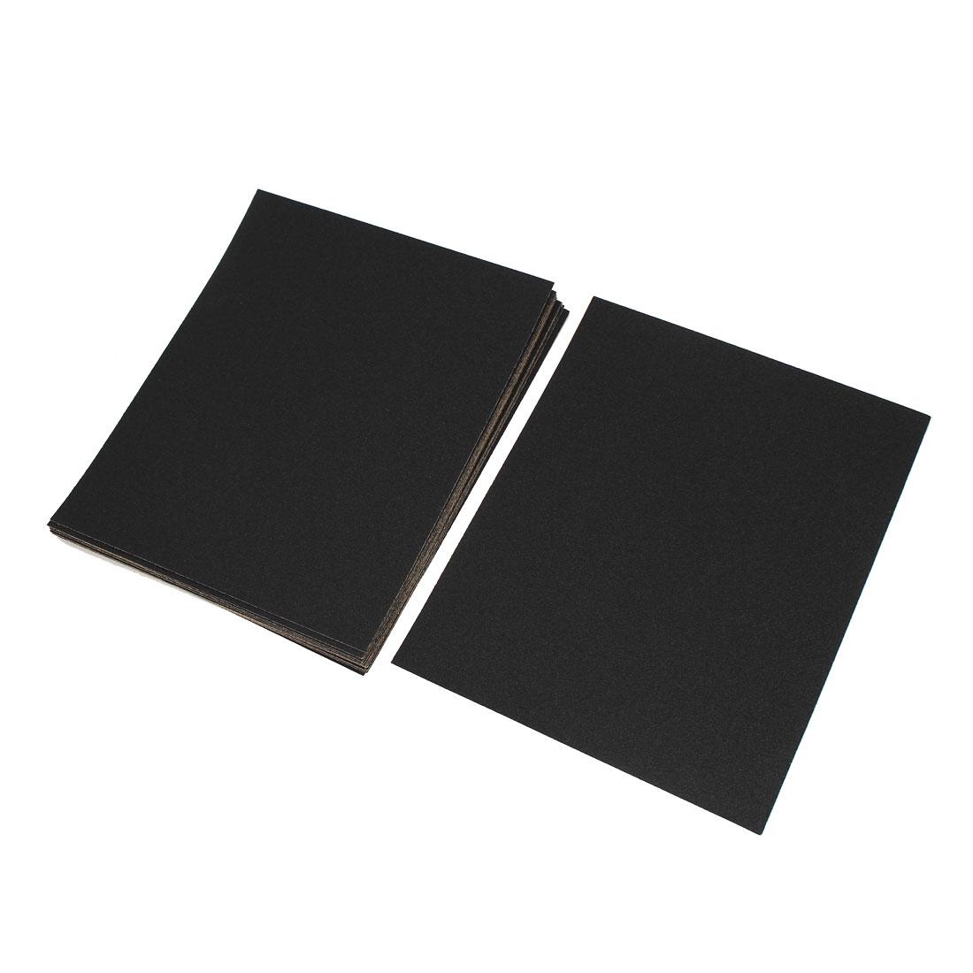 Silicone Carbide Wet Dry Abrasive Sandpapers Burnishing 120 Grit 20pcs