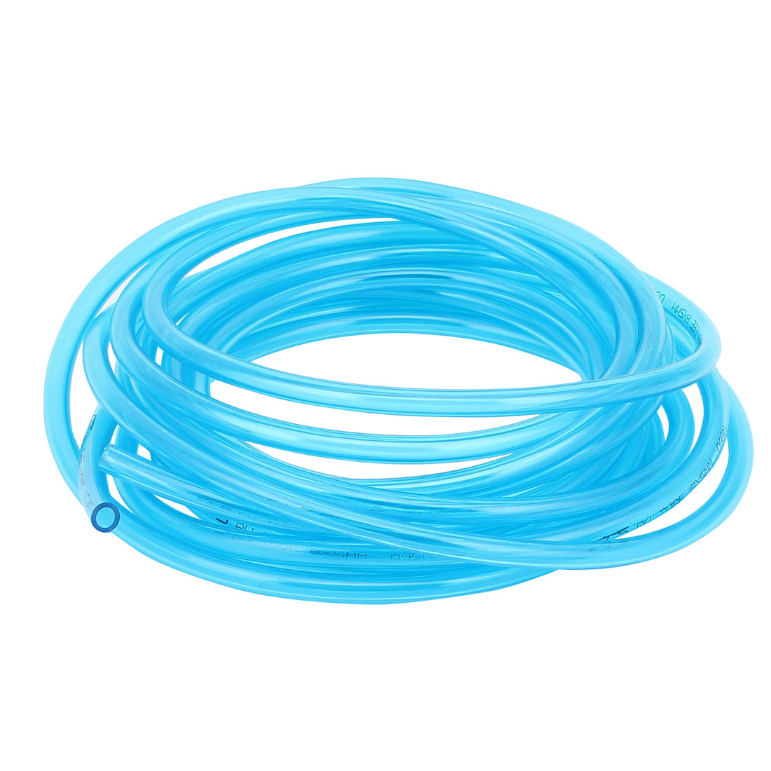 8mm OD x 5mm ID PU Pneumatic Air Tubing Pipe Hose 6 Meter 19.7ft Blue