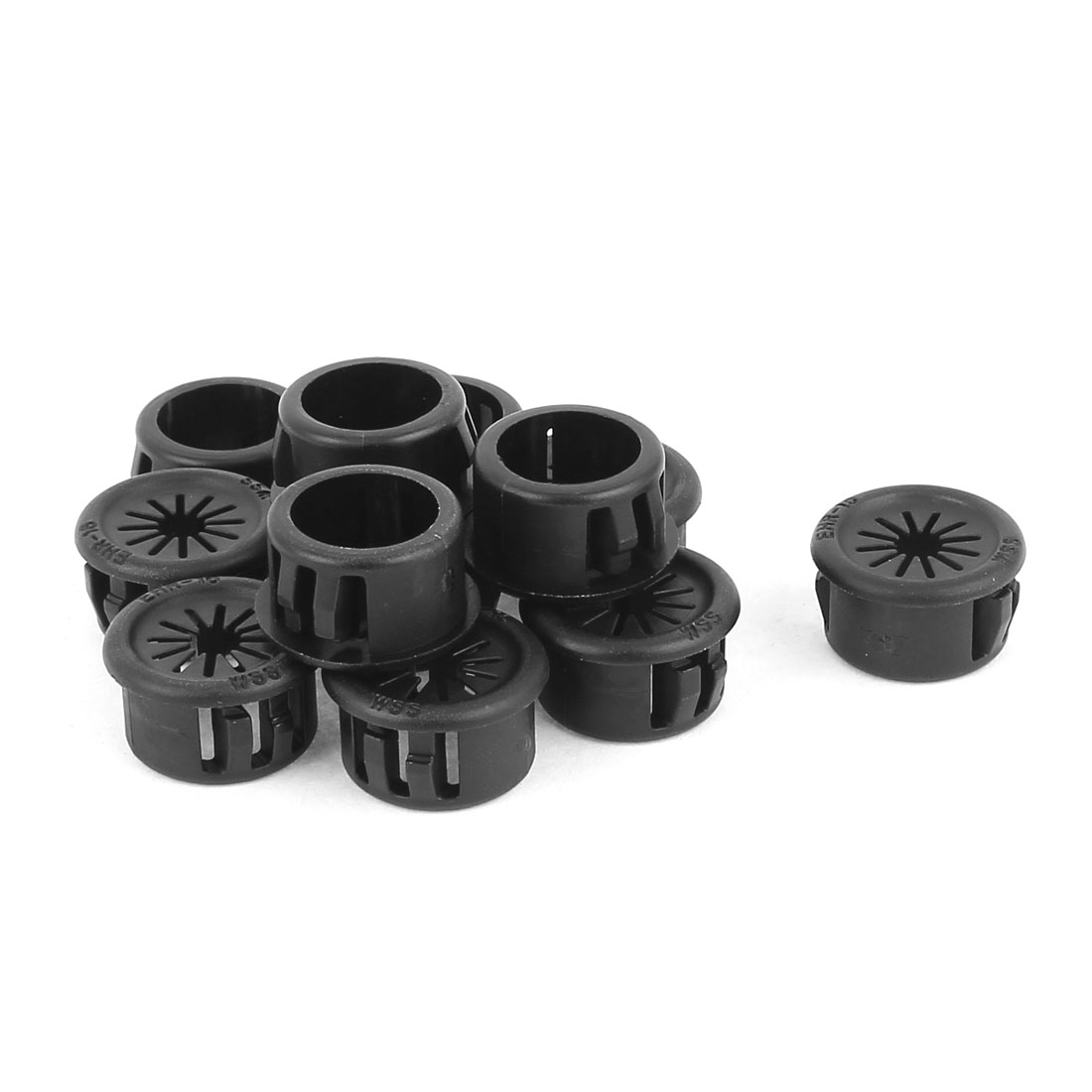 Cable Hose 16mm Mount Dia Snap in Webbed Bushing Harness Grommet Protect 12 Pcs