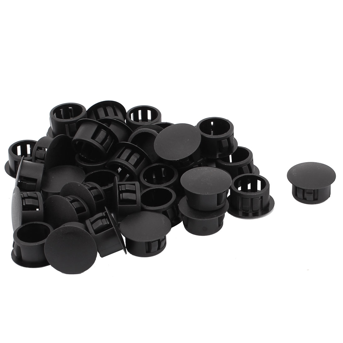 35 Pcs HHP-16 Nylon Round Snap in Mounting Locking 16mm Diameter Panel Hole Black