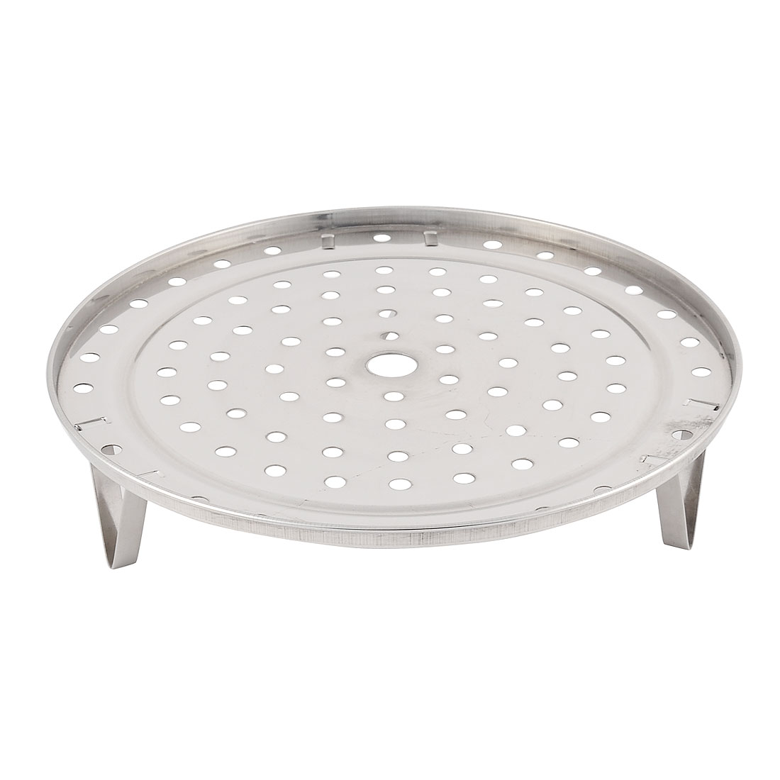 Household Stainlss Steel Steaming Rack Tray Stand Silver Tone 24cm Diameter