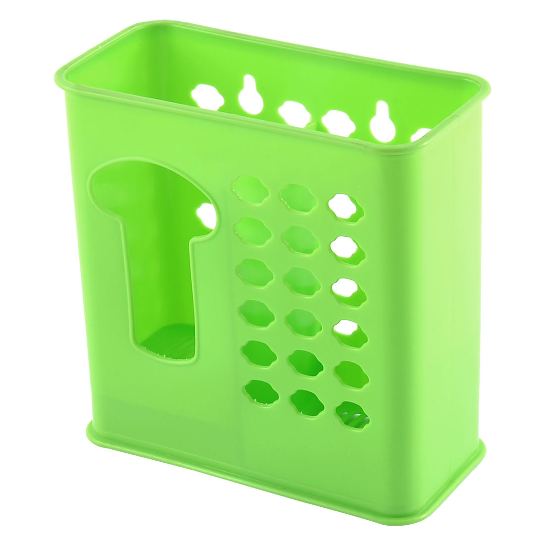 Kitchenware Plastic Double Compartments Spoon Chopsticks Tableware Cage
