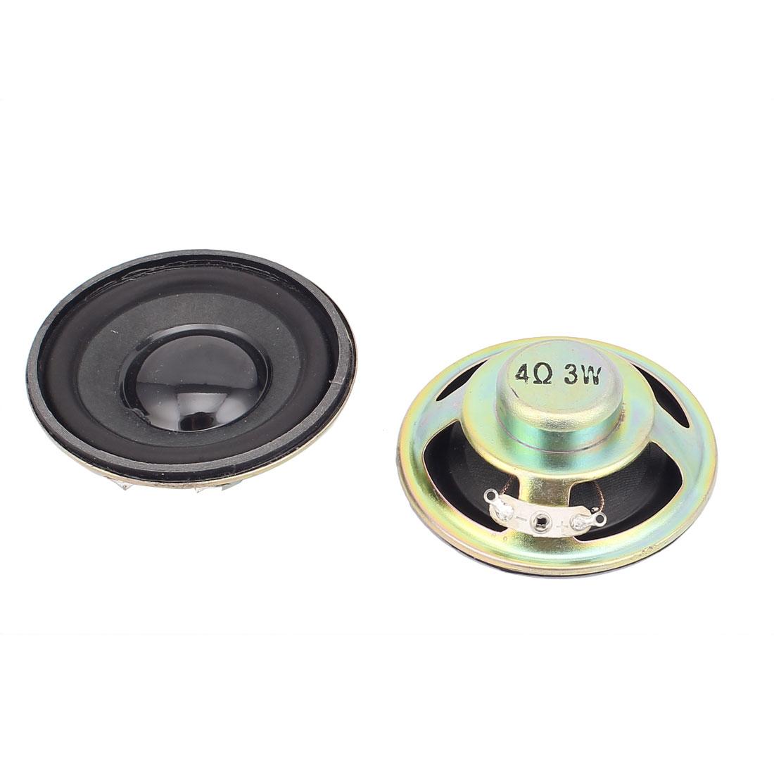 2 Pcs 57mm 4Ohm 3W Metal Shell External Magnetic Speaker Loudspeaker Black
